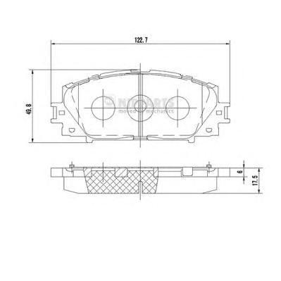 N3602127 Колодки тормозные TOYOTA YARIS 06- (Япония) без АБС передние