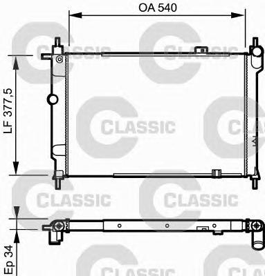 230993 Радиатор Classic OPEL ASTRA F 1.7D &gt