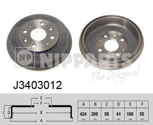 J3403012 Барабан тормозной MAZDA 323 98-04