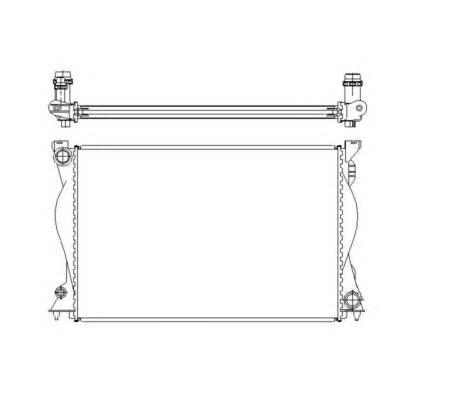 50597 Радиатор VAG A6 2,4-3,2FSI МКПП 04-