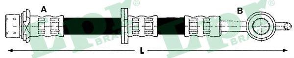 6T47859 Шланг тормозной TOYOTA CAMRY 91-01 левый/LEXUS RX 300 00-03 правый передний