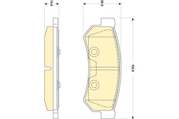 6141789 Колодки тормозные CHEVROLET LACETTI 07-/DAEWOO NUBIRA задние