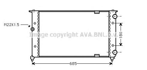 ST2021 Радиатор системы охлаждения SEAT: CORDOBA (6K2/C2) 1.6 i/1.8 i/1.8 i 16V/1.9 D/2.0 i 93 - 99 , CORDOBA (6L2) 1.6 02 - , C
