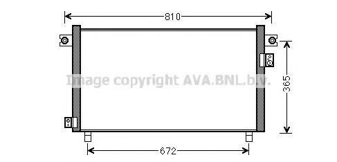 DN5330 Конденсер NISSAN PATROL 2.8 TD 97-