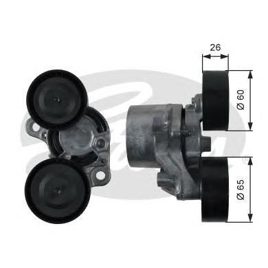 T39198 Натяжитель ремня приводного BMW F20/E90/F30/F10/F01/F25 1.6D-3.0D