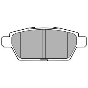 LP2493 Колодки тормозные MAZDA 6 05- задние