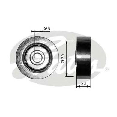 T36297 Ролик ремня приводного BMW E46/E39/E53 1.8D-3.0D M47/M57