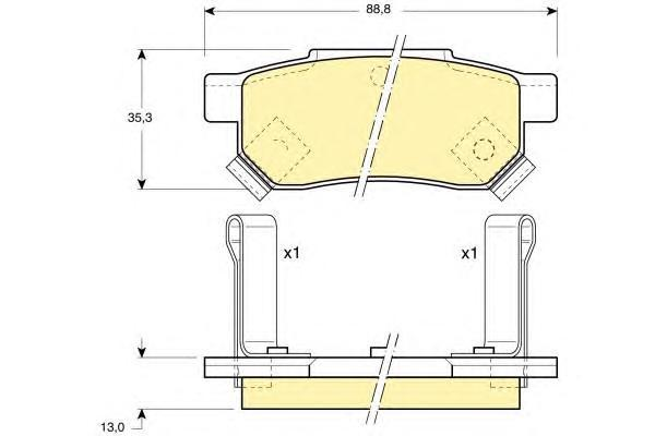 6104999 Колодки тормозные HONDA ACCORD 85-89/CIVIC 87-01 задние
