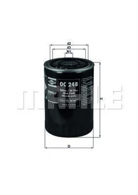 OC248 Фильтр масляный FIAT DUCATO/CITROEN JUMPER 2.4D-2.8D