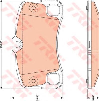 GDB1792 Колодки тормозные PORSCHE 911 3.6-3.8 06- задние