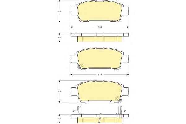 6132499 Колодки тормозные TOYOTA AVENSIS VERSO 2.0 01-/PREVIA 2.0-2.4 00- задние