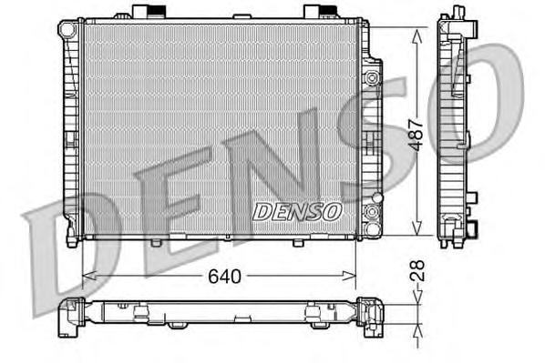 DRM17088 Радиатор охл. ДВС MB E-Class (W210) -03.03