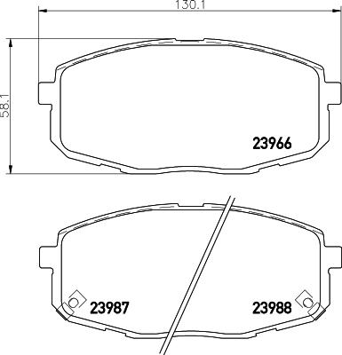 8DB355010611 Колодки тормозные HYUNDAI i30 07-/KIA СEED 07-/CARENS 02- передние