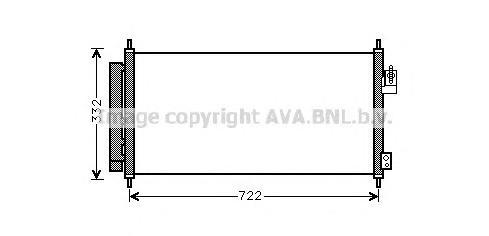 HD5248 Конденсер HONDA JAZZ 1.2/1.3H 08-