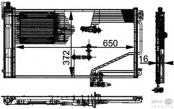 8FC351301341 Конденсатор кондиционера MERCEDES-BENZ: C-CLASS (W203) C 200 CDI (203.004)/C 220 CDI (203.006)/C 270 CDI (203.016)