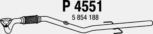 p4551 Труба выхлопного газа