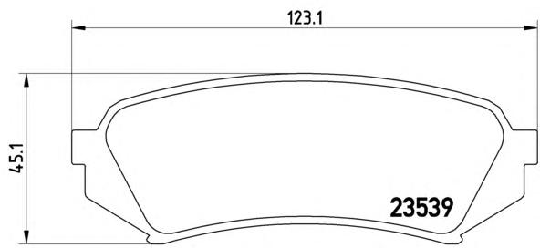 P83049 Колодки тормозные TOYOTA LAND CRUISER 100 9807/LEXUS LX470 9807задние