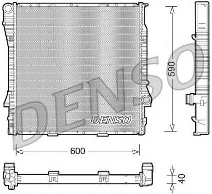 DRM05114 Радиатор BMW E53 3.0D 00-