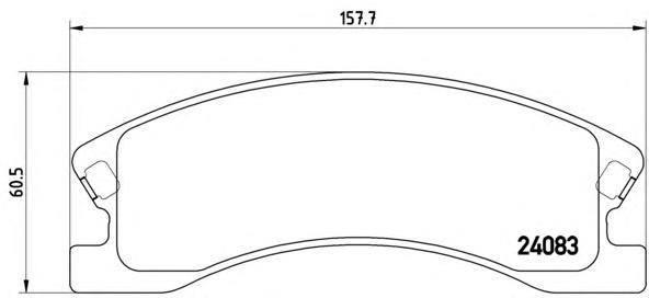 P37008 Колодки тормозные JEEP GRAND CHEROKEE II 00- передние