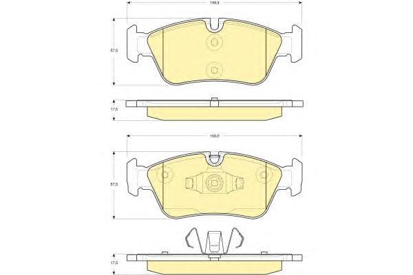 6116252 Колодки тормозные BMW E81/E87/E90 1.6-2.0 04- передние
