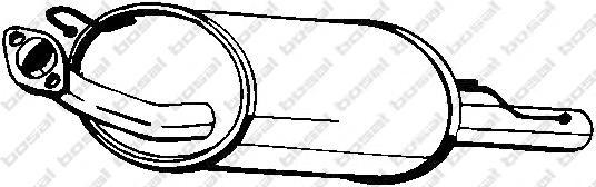 145341 Глушитель NISSAN ALMERA 1.4/1.6/2.0D 95-00