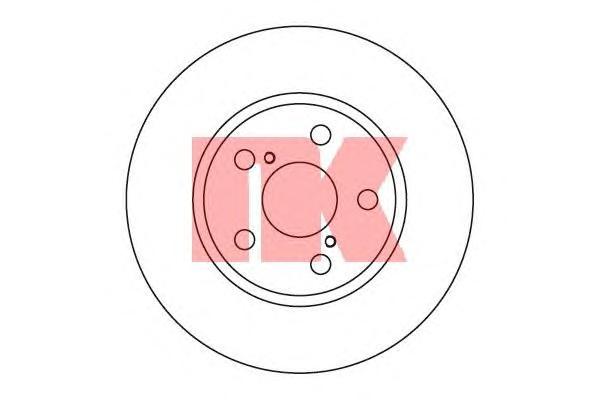204544 Диск тормозной TOYOTA CARINA E 1.6-2.0 95-97 передний