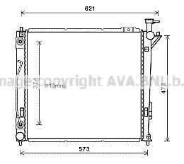 HY2339 Радиатор HYUNDAI SANTA FE 2.0TD/2.2TD A/T 12-
