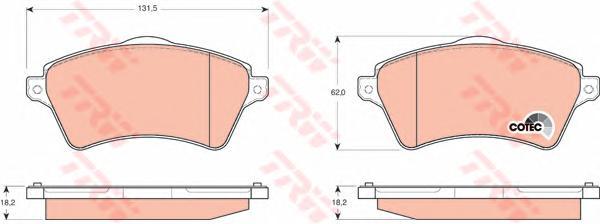 GDB1473 Колодки тормозные LAND ROVER FREELANDER 98-06 передние