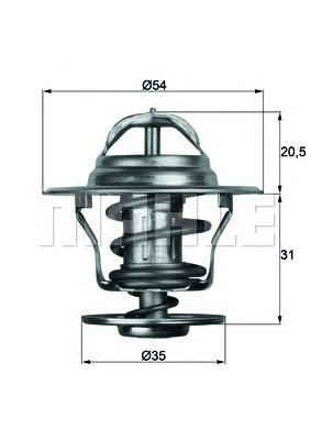 TX1387D Термостат AUDI A3/A4 1.9-2.0TDI 00- / SKODA OCTAVIA 1.9TDI 00- / VW GOLF 1.9 03-
