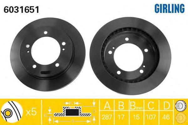6031651 Тормозной диск