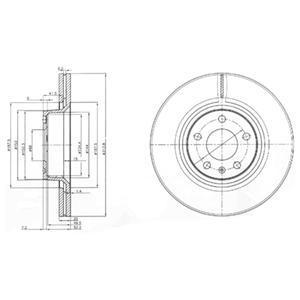BG3942 Диск тормозной AUDI A6 2.0-5.2 04- передний D=313мм.