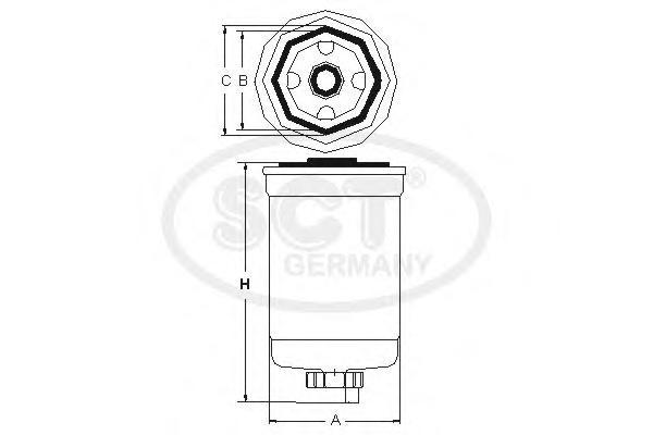 ST6082 Фильтр топл Land Rover