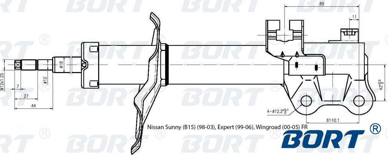 g21845029r Стойка амортизационная газомасляная передняя правая