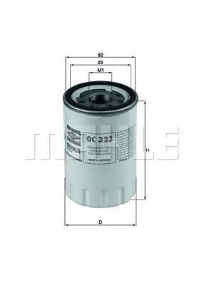 OC323 Фильтр масляный DAIMLER: DAIMLER 97-, JAGUAR: S-TYPE 99-, XJ 97-03, XK 8 Convertible 96-, XK 8 купе 96-, LINCOLN: LS 98-