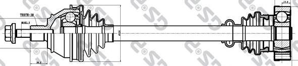 261119 Привод в сборе VW TRANSPORTER IV 1.9D-2.5 90-03 пер. лев./прав. МКПП