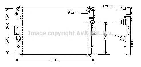 IV2057 Радиатор системы охлаждения IVECO: Daily II 29 L 11/29 L 11 V/29 L 9/29 L 9 V/35 S 11 V,35 C 11 V/35 S 11,35 C 11/35 S 9