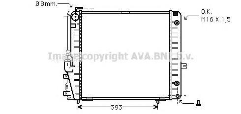 MSA2086 Радиатор MB W126 2.6/3.0 A/T 85-92