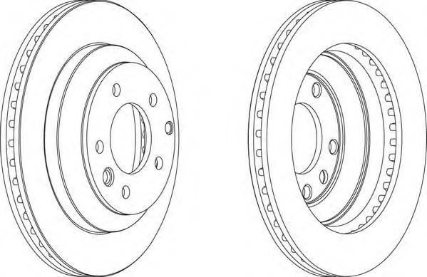 DDF1580 Диск тормозной AUDI Q7/VW TOUAREG/PORSCHE CAYENNE задний вент.