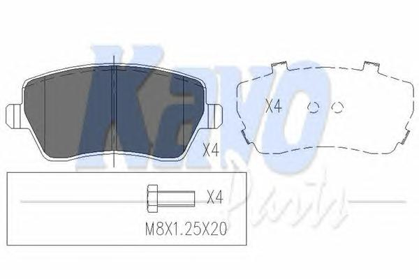 KBP6559 Колодки тормозные NISSAN MICRA 03/RENAULT CLIO 05передние