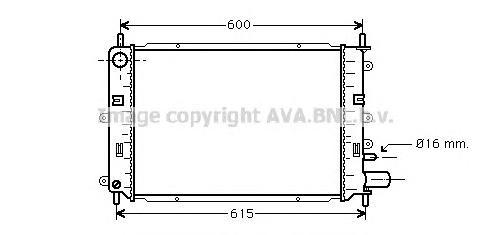 FD2152 Радиатор FORD ESCORT 1.4-2.0 91-