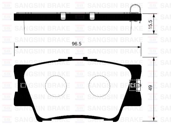 SP2081 Колодки тормозные TOYOTA RAV 4 06/CAMRY 2.4/3.5 06 задние