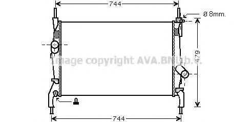 FD2404 Радиатор FORD TRANSIT 2.3/2.2D/2.4D 06- МКПП без кондиционера