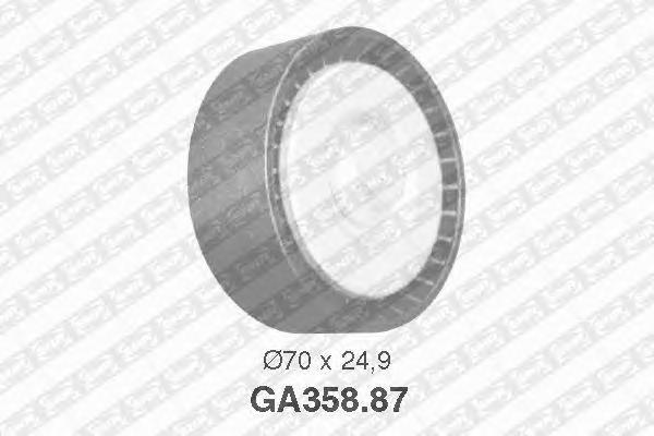 GA35887 Ролик натяжной поликлинового ремня Citroen Jumper, Peugeot Boxer 2.8TDi, Fiat Ducato 2.8JTD 00-,02-