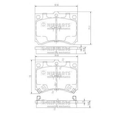J3603035 Колодки тормозные MAZDA 323/MX-3 1.6-1.8 89-04 передние