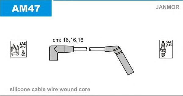 AM47 Комплект проводов зажигания CHEVROLET: MATIZ 0.8 05-, SPARK 0.8 05-