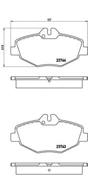 P50049 Колодки тормозные MERCEDES W211 02 передние