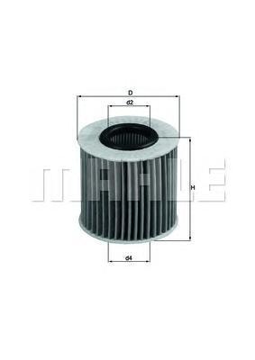 ox414d2 Фильтр масляный TOYOTA Auris,Yaris MAHLE