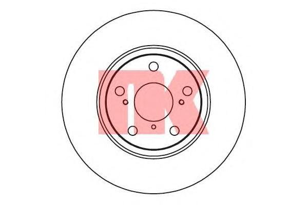 2045122 Диск тормозной TOYOTA AURIS 07-/AVENSIS/VERSO 09- передний вент.D=295мм.