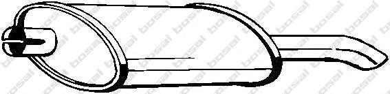 185999 Глушитель OPEL ASTRA F 1.4-2.0 91-96/KADETT E 1.2-2.0 84-92(HATCH)