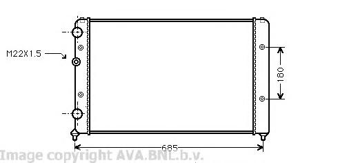 VWA2115 Радиатор VAG CADDY/G3/POLO 1.0-1.8/1.9D 95-05